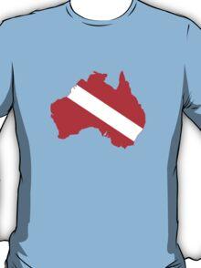 Diver Down Flag Australia T-Shirt