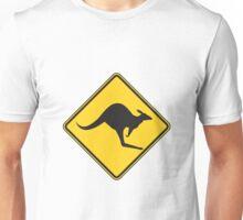 Kangaroo Warning Unisex T-Shirt