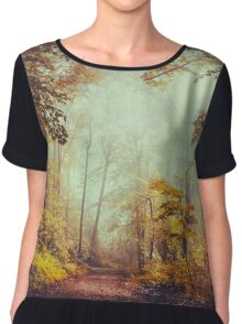 silent forest Chiffon Top