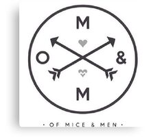 Of Mice & Men Arrow Logo Design (Option 1) Canvas Print