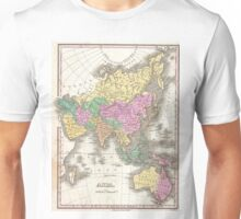 Vintage Map of Asia (1827) Unisex T-Shirt