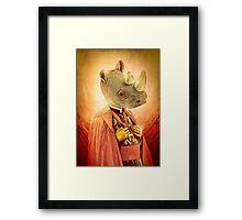 The Holy Rhino Framed Print
