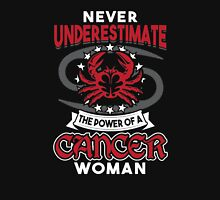 Never Underestimate A Cancer Womens Fitted T-Shirt