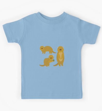Squirrels with an Acorn Kids Tee
