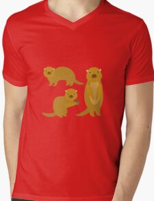 Squirrels with an Acorn Mens V-Neck T-Shirt