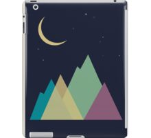 Multi-colored mountains and the moon. Active tourism iPad Case/Skin