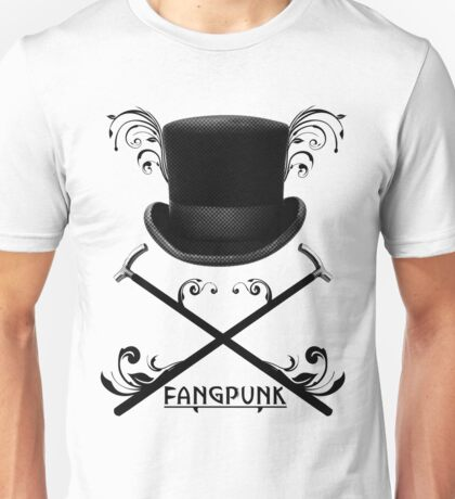 Top Hat and Canes T Shirt Black Unisex T-Shirt