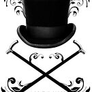 Top Hat and Canes T Shirt Black by Fangpunk