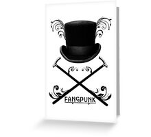 Top Hat and Canes T Shirt Black Greeting Card