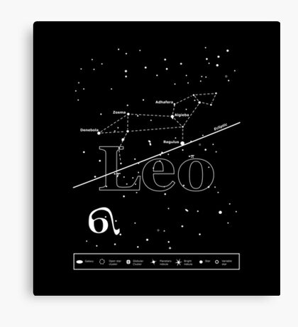 Leo Star-Chart Canvas Print