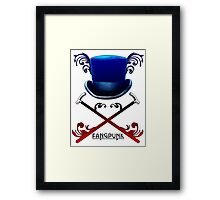 Top Hat and Canes Framed Print