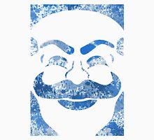 F-Society Mask - Blue Splattered (on white) Unisex T-Shirt