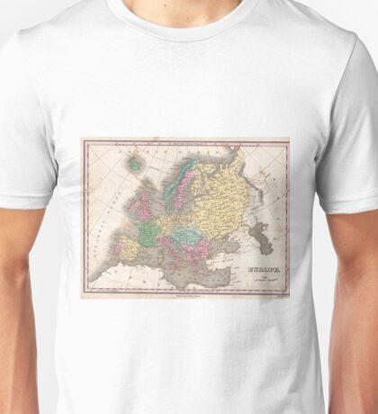 Vintage Map of Europe (1827) Unisex T-Shirt