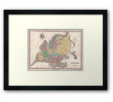 Vintage Map of Europe (1827) Framed Print