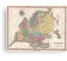 Vintage Map of Europe (1827) Canvas Print