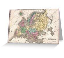 Vintage Map of Europe (1827) Greeting Card