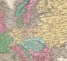 Vintage Map of Europe (1827) Sticker