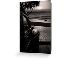 Ford Woody at the Beach Greeting Card