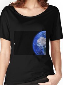 Moon and Earth Women's Relaxed Fit T-Shirt
