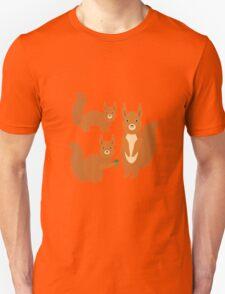 Fluffy Squirrels Unisex T-Shirt