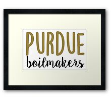 Purdue University Framed Print