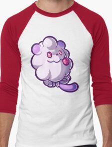 Pastel Swirlix Men's Baseball ¾ T-Shirt