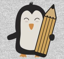 Penguin with pen   One Piece - Short Sleeve