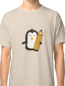 Penguin with pen   Classic T-Shirt