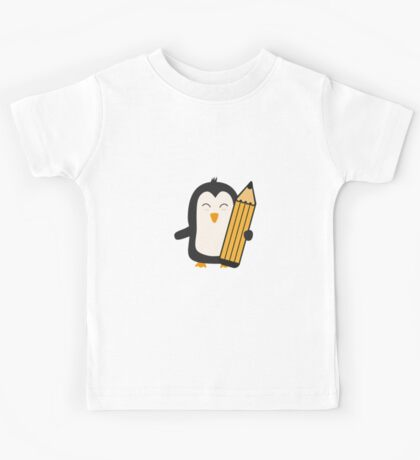 Penguin with pen   Kids Tee