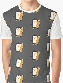 Penguin with pen   Graphic T-Shirt
