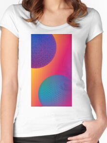 Geodesic Neon Spheres 1 Women's Fitted Scoop T-Shirt