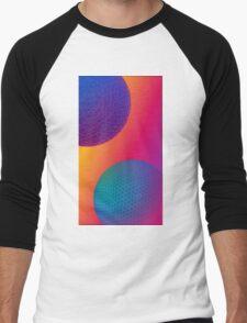Geodesic Neon Spheres 1 Men's Baseball ¾ T-Shirt