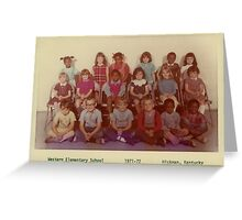 1971-1972, WESTERN ELEMENTARY SCHOOL, HICKMAN, KENTUCKY Greeting Card
