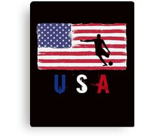 USA Soccer 2016 competition football first 11 funny t-shirt Canvas Print