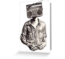 Radio-Head Greeting Card