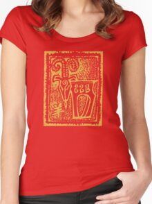 Chinese New Year of The Sheep Goat Ram Women's Fitted Scoop T-Shirt