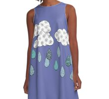 Raining patterns A-Line Dress