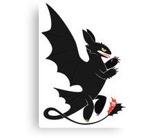 Toothless Heraldry Canvas Print
