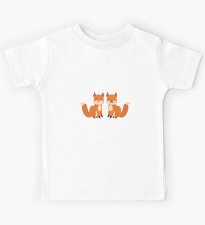 Cute Foxes Kids Tee