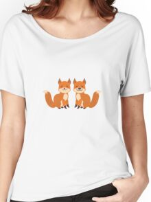 Cute Foxes Women's Relaxed Fit T-Shirt
