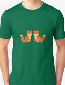 Cute Foxes Unisex T-Shirt