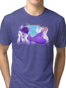 Purple Husky  Tri-blend T-Shirt