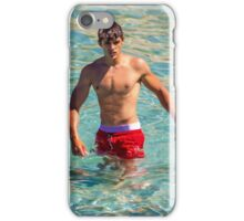 Sexy french guy at the beach in Saint Tropez, France iPhone Case/Skin