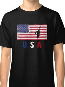 USA Swimming 2016 competition freestyle funny t-shirt Classic T-Shirt