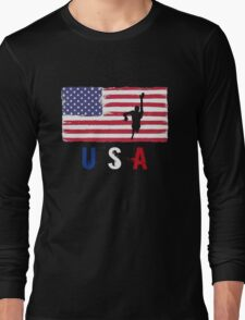 USA Swimming 2016 competition freestyle funny t-shirt Long Sleeve T-Shirt