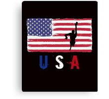 USA Swimming 2016 competition freestyle funny t-shirt Canvas Print