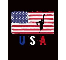 USA Swimming 2016 competition freestyle funny t-shirt Photographic Print