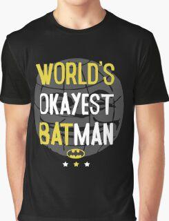 World's okayest batman funny cartoon cool retro shirts and clothing design Graphic T-Shirt