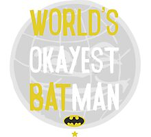 World's okayest batman funny cartoon cool retro shirts and clothing design Photographic Print