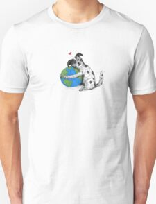 "Australian Cattle Dog, Blue Heeler, ""Love-Earth"" Unisex T-Shirt"